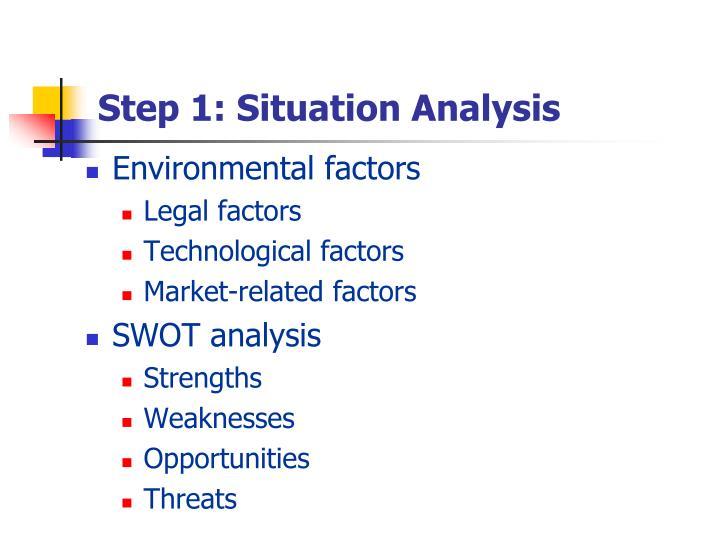 Step 1: Situation Analysis