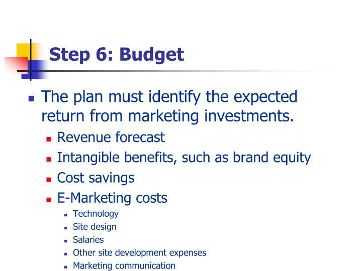 Step 6: Budget