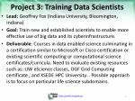project 3 training data scientists