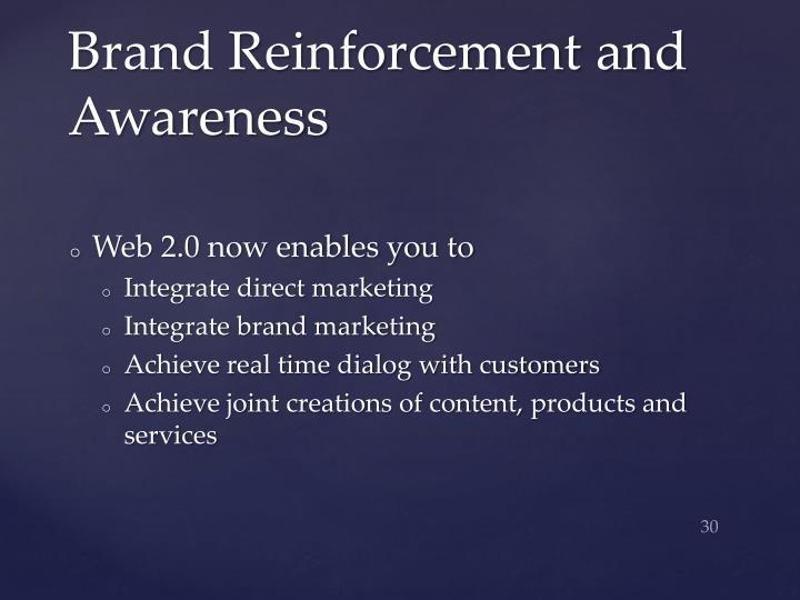 Brand Reinforcement and Awareness