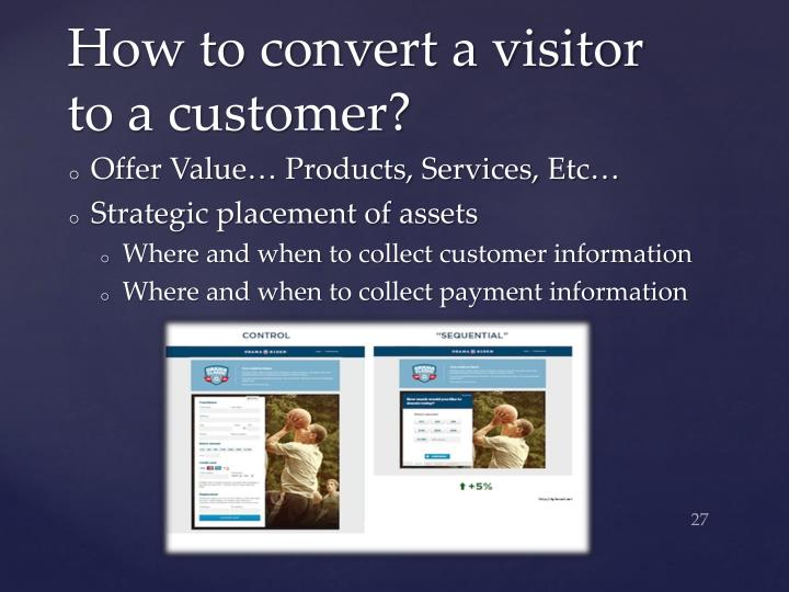 How to convert a visitor to a customer?
