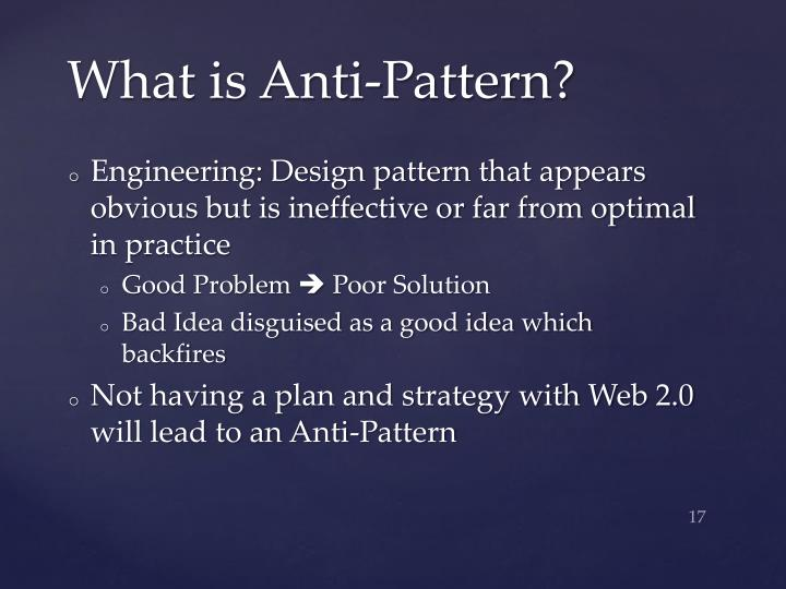 What is Anti-Pattern?