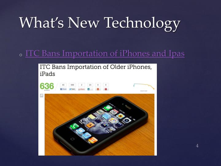 What's New Technology