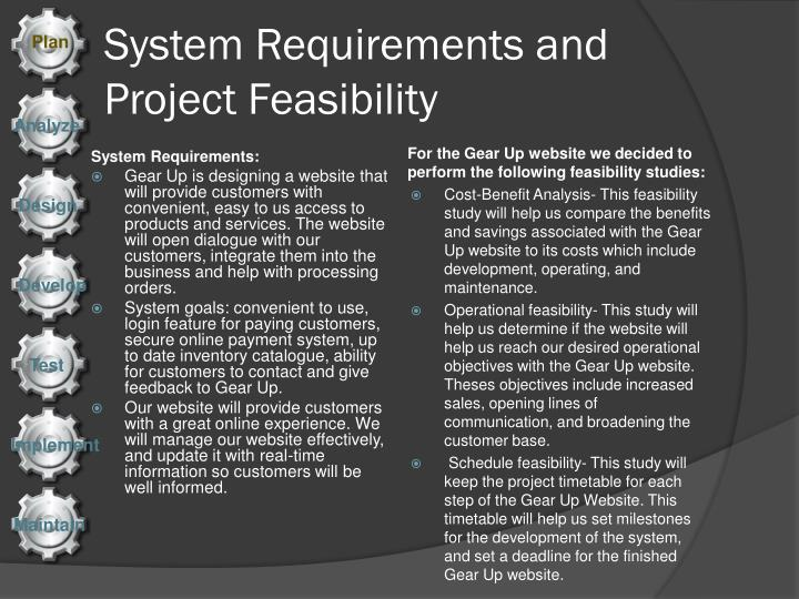 System requirements and project feasibility