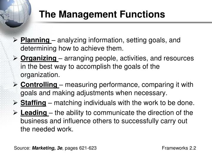 The Management Functions