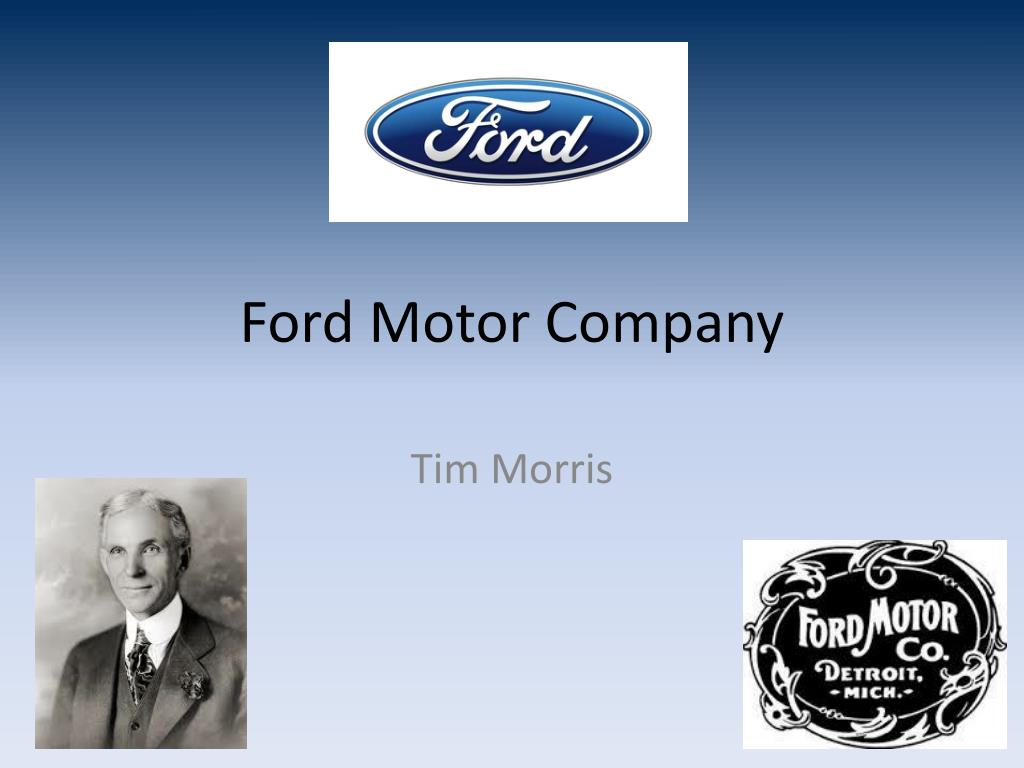 ford motor company ppt