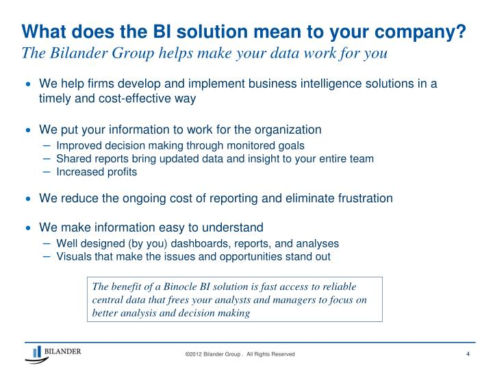Ppt - Business Intelligence Solutions For Improved -5355