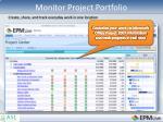 monitor project portfolio