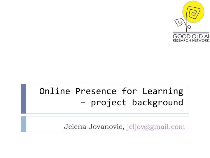 online presence for learning project background n.