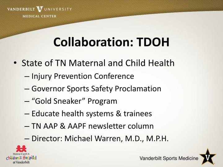 Collaboration: TDOH