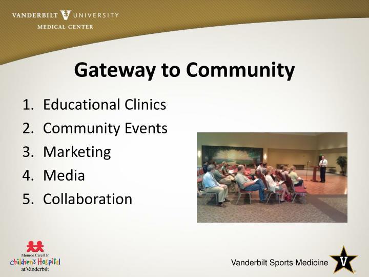 Gateway to Community