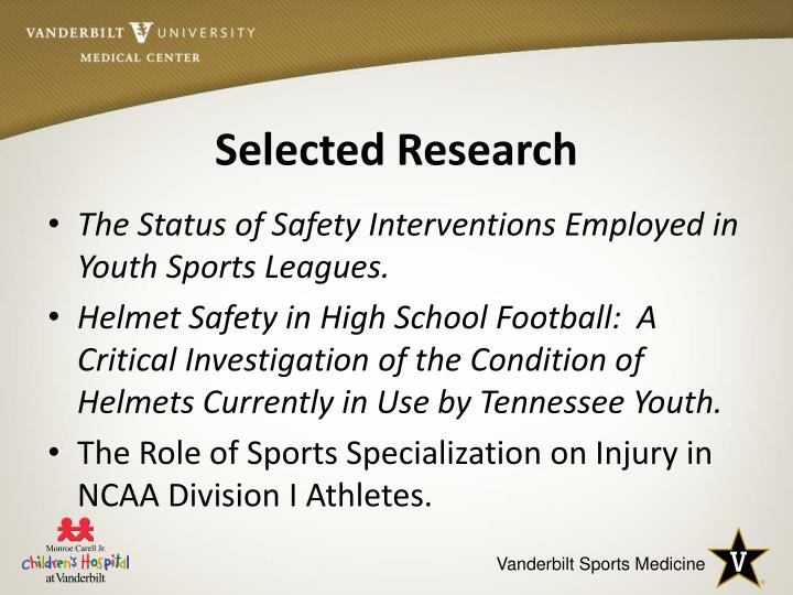 Selected Research