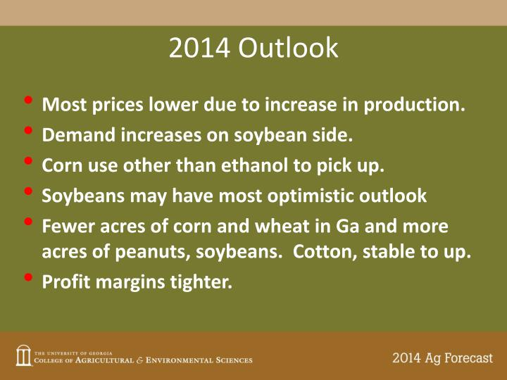 2014 Outlook