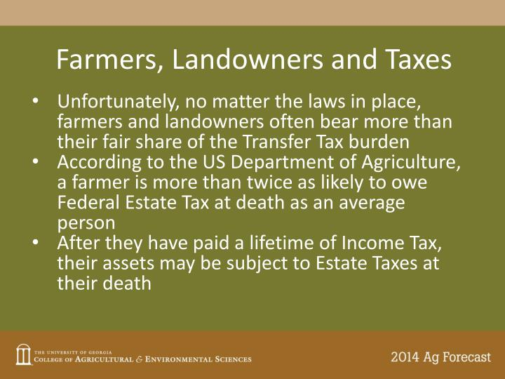 Farmers, Landowners and Taxes