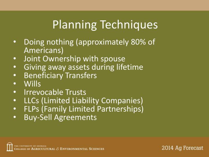 Planning Techniques