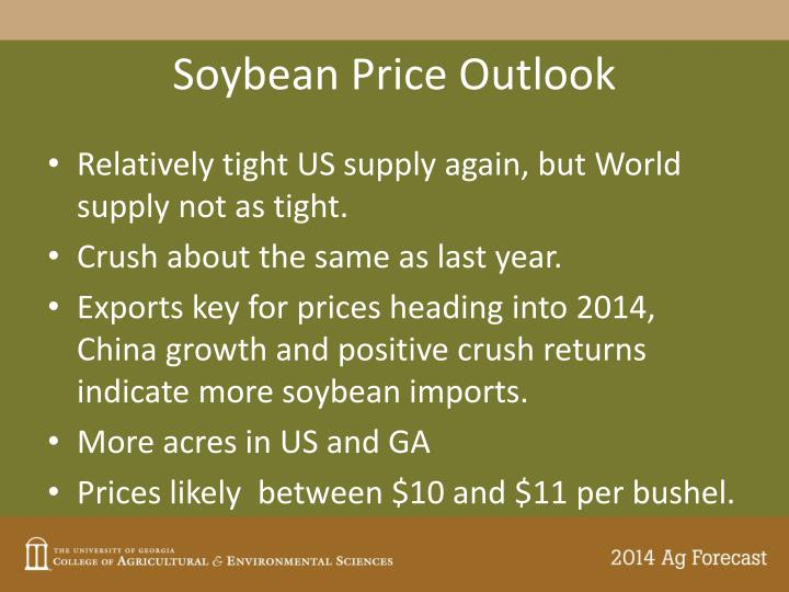 Soybean Price Outlook