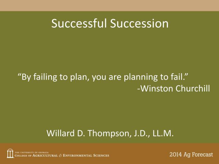 Successful Succession