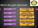 match the year and event
