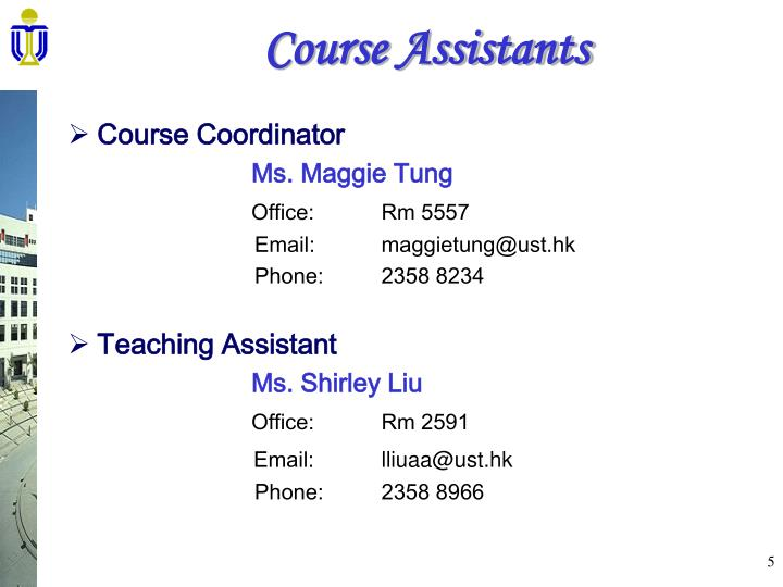 Course Assistants