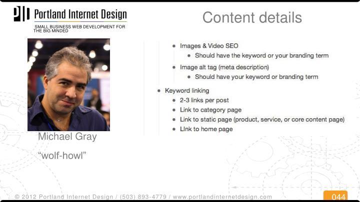 Content details