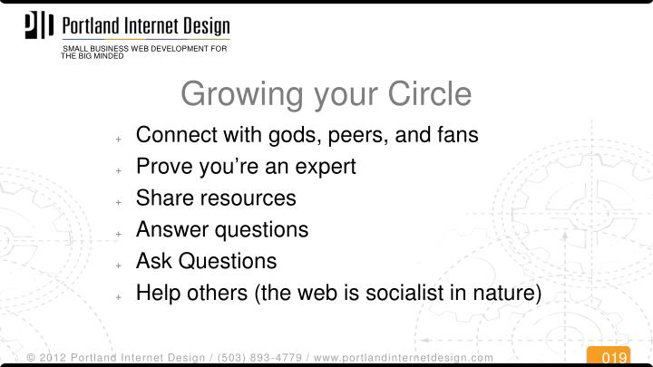 Growing your Circle