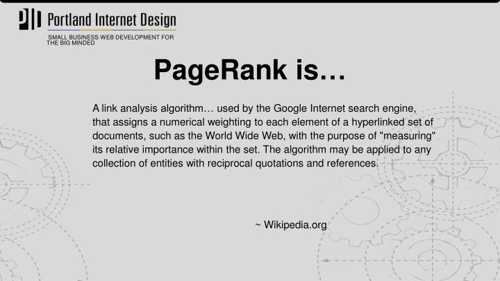 PageRank is