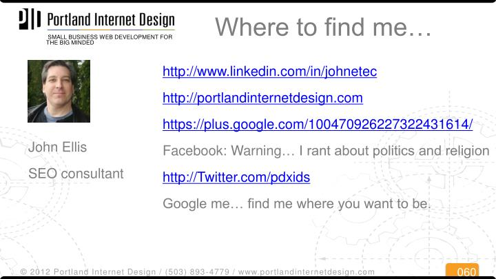 Where to find me…