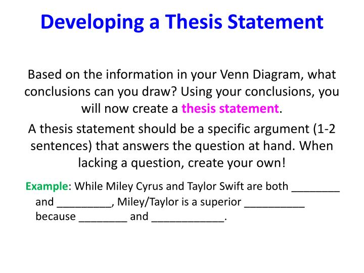 steps to developing a thesis statement Developing a topic developing a topic can be challenging check out the video below for more information and tips on developing a topic brainstorming tools some students find it helpful to brainstorm in a visual way here are some free tools that can help: lucidchart lucidchart is a free tool available as an add-on to the google suite of.