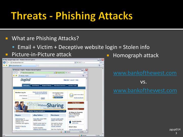 Threats phishing attacks