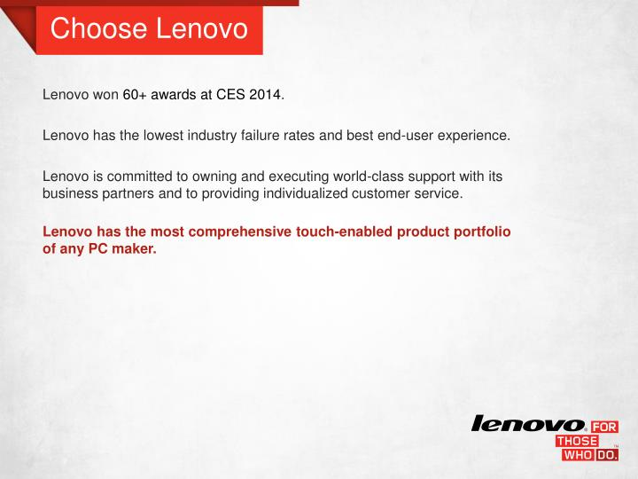 Choose Lenovo