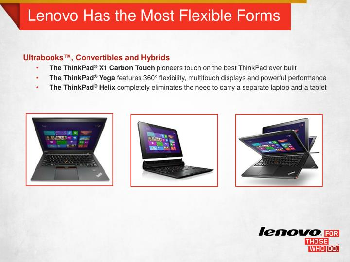 Lenovo Has the Most Flexible Forms