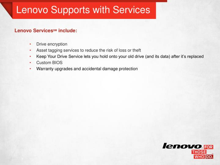 Lenovo Supports with Services
