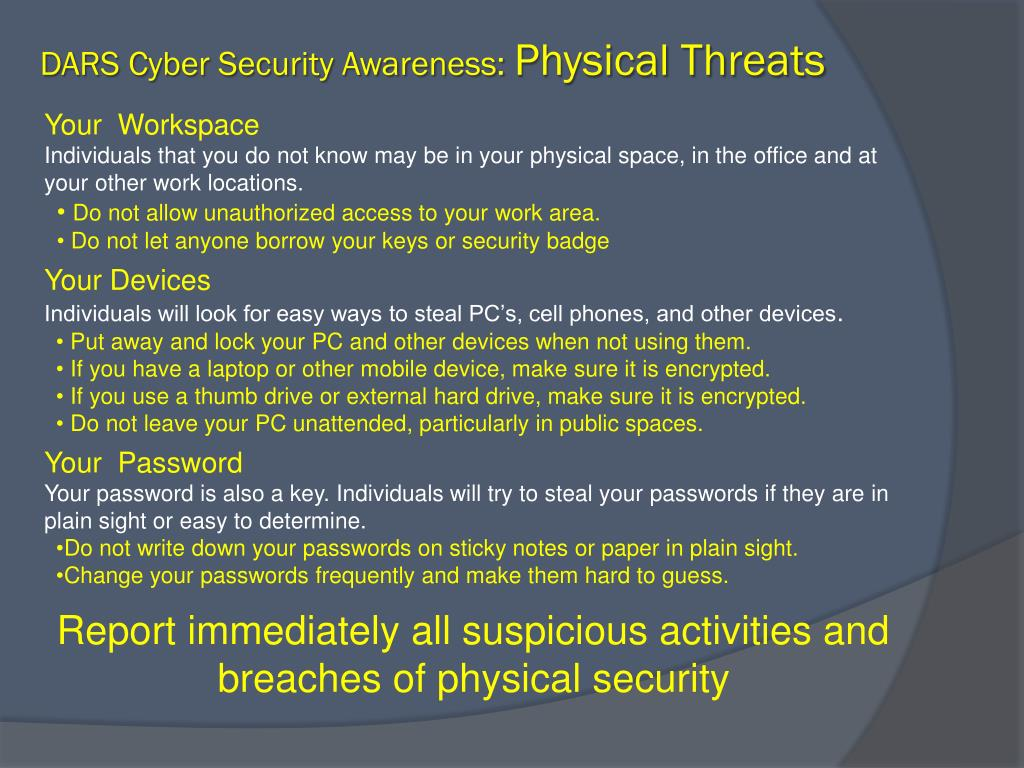 Ppt End User Cyber Security Awareness Training