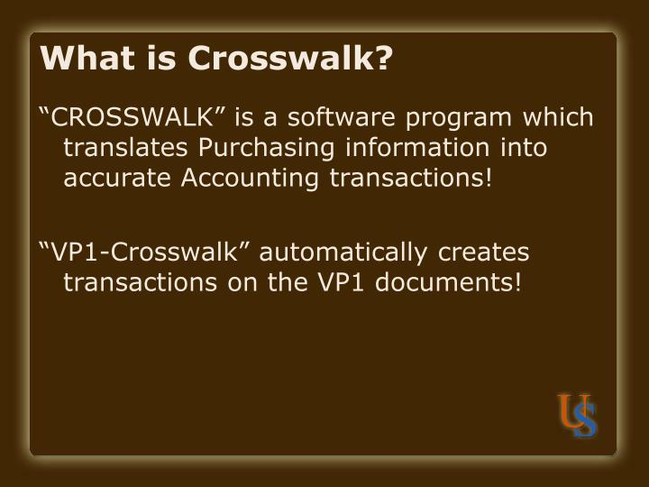 What is crosswalk