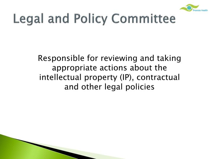 Legal and Policy Committee
