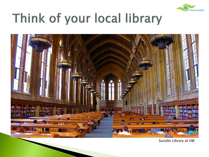 Think of your local library