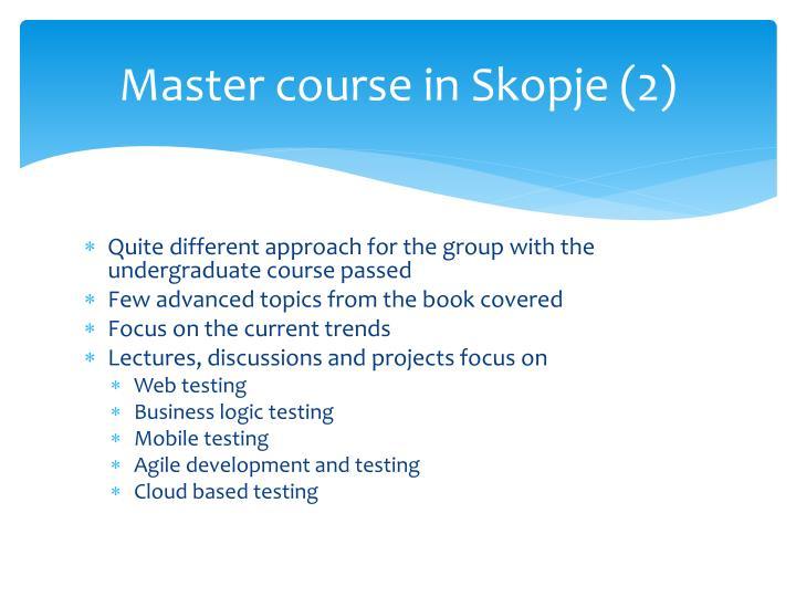 Master course in Skopje (2)