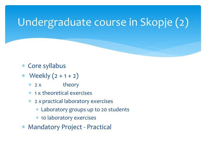 Undergraduate course in Skopje (2)