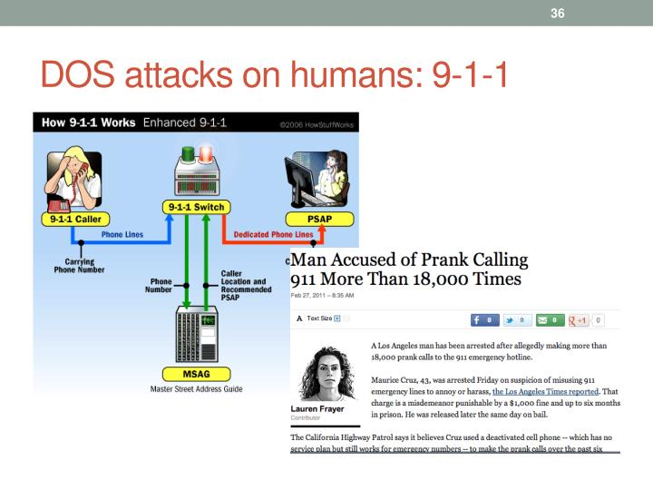 DOS attacks on humans: 9-1-1