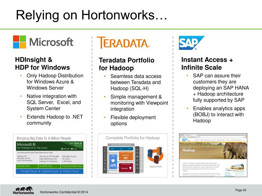 PPT - Hortonworks: We Do Hadoop  PowerPoint Presentation