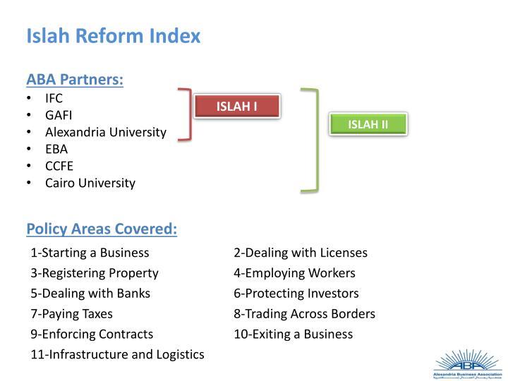 Islah Reform Index