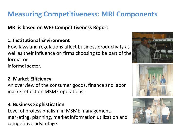 Measuring Competitiveness: MRI Components