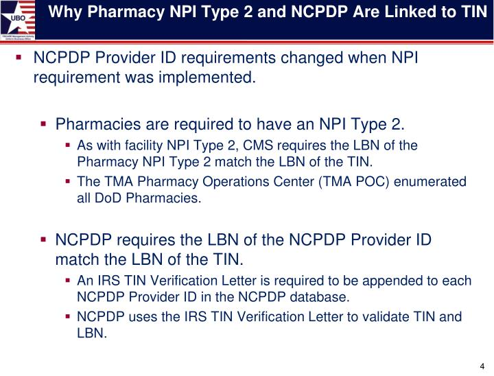 Ppt Connecting The Dots Federal Tax Id To Npi Type 2 And