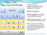 other cms open text ecm suite