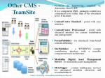 other cms teamsite