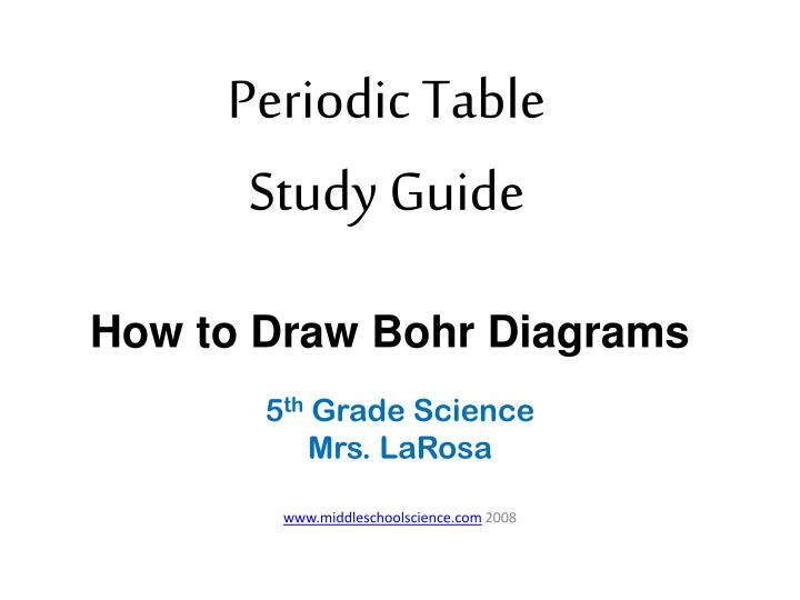 Ppt periodic table study guide powerpoint presentation id1688946 periodic table study guide how to draw bohr diagrams ccuart Choice Image