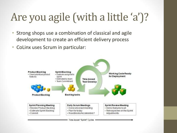 Are you agile (with a little 'a')?
