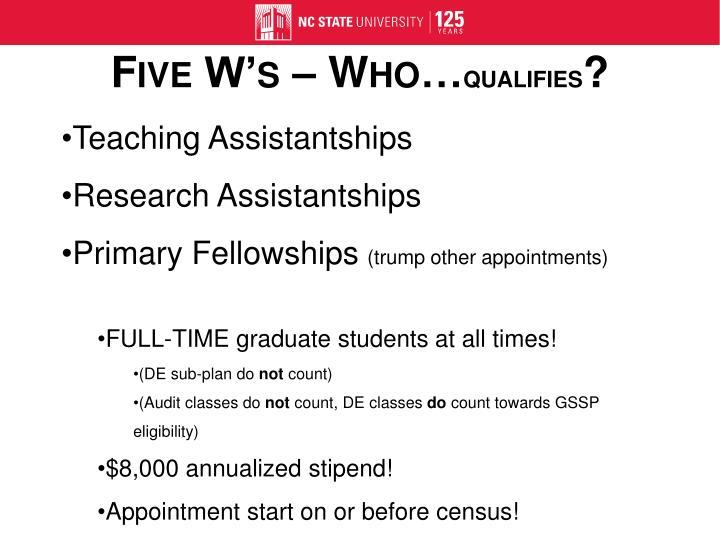Teaching Assistantships