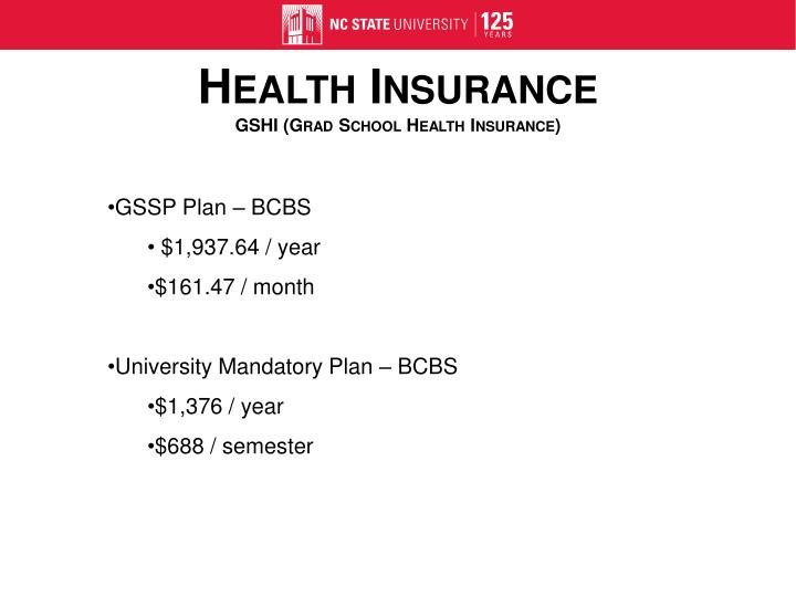 GSSP Plan – BCBS
