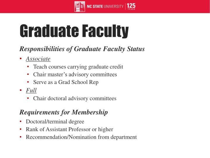 Graduate Faculty